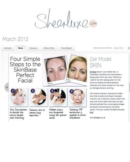 SkinBase in Sheerluxe